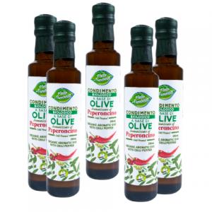 Olio d'oliva biologico aromatizzato al peperoncino 250 ml